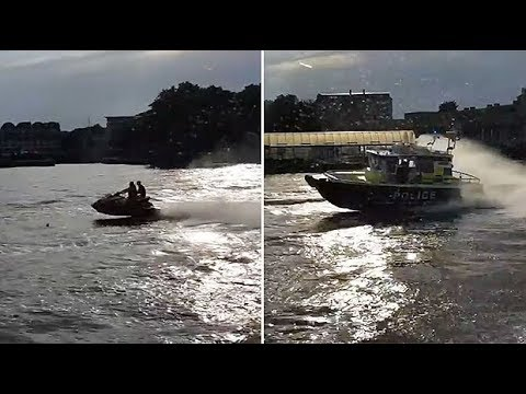 Guy Stuff with Paul & Geof - Boat Cops chasing jet-skis on famous river!