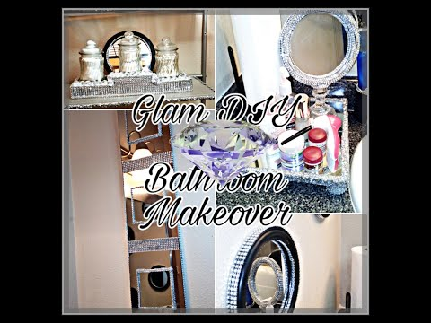 Dollar Tree Glam Bathroom Makeover- DIY