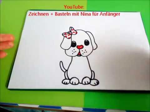 Hunde Und Welpen Zeichnen Wie Man Tiere Malt Tutorial Fur Kinder