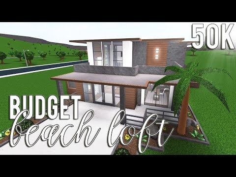 Roblox Bloxburg Budget Beach Loft 50k Youtube
