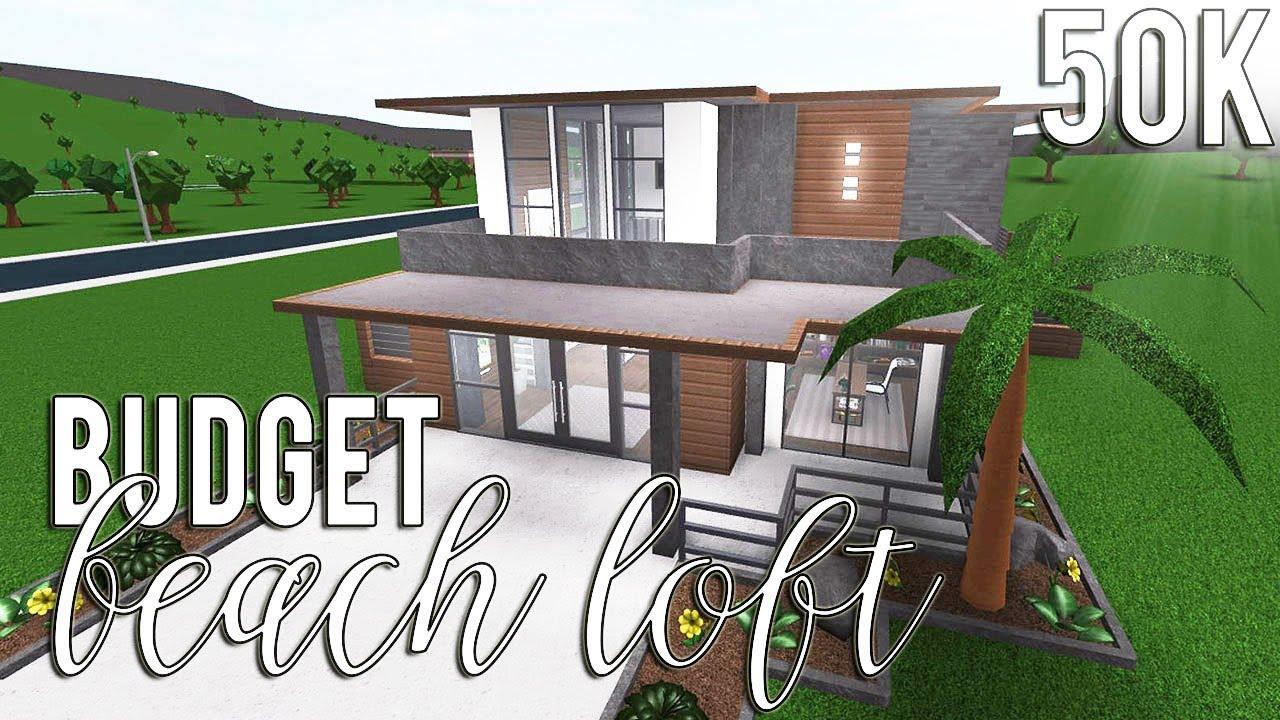 Bloxburg: Budget Beach Loft 50k - YouTube