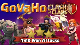 Clash of Clans | GoVaHo with Queen Walk TH10 Attack Strategy in Clash of Clans - War Raids!
