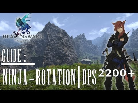 Final Fantasy XIV #Guide - Ninja Rotation Guide (German/Deutsch) (ab