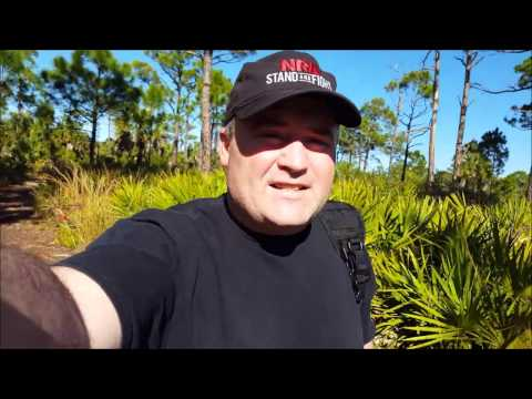 Hiking at The Salt Springs State Park in Port Richey Florida.