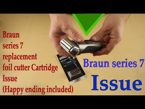 Braun Series 7 ISSUE - Foil Replacement Cartridge