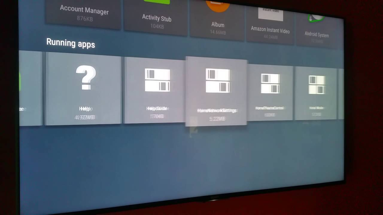 Sony Android TV, Clearing App and Resetting