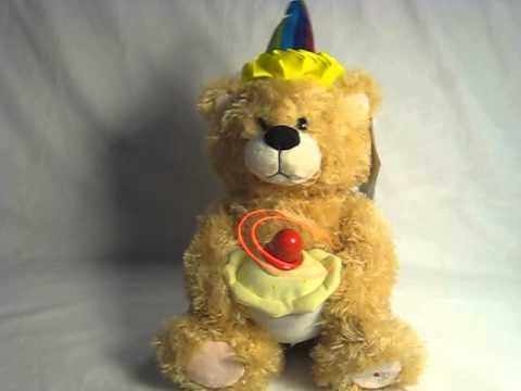 Singing Plush Birthday Bear