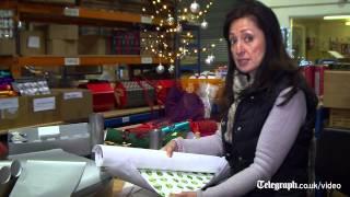 Inside a Christmas cracker making factory