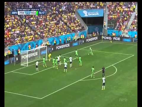 2014 World Cup rd of 16: France v Nigeria