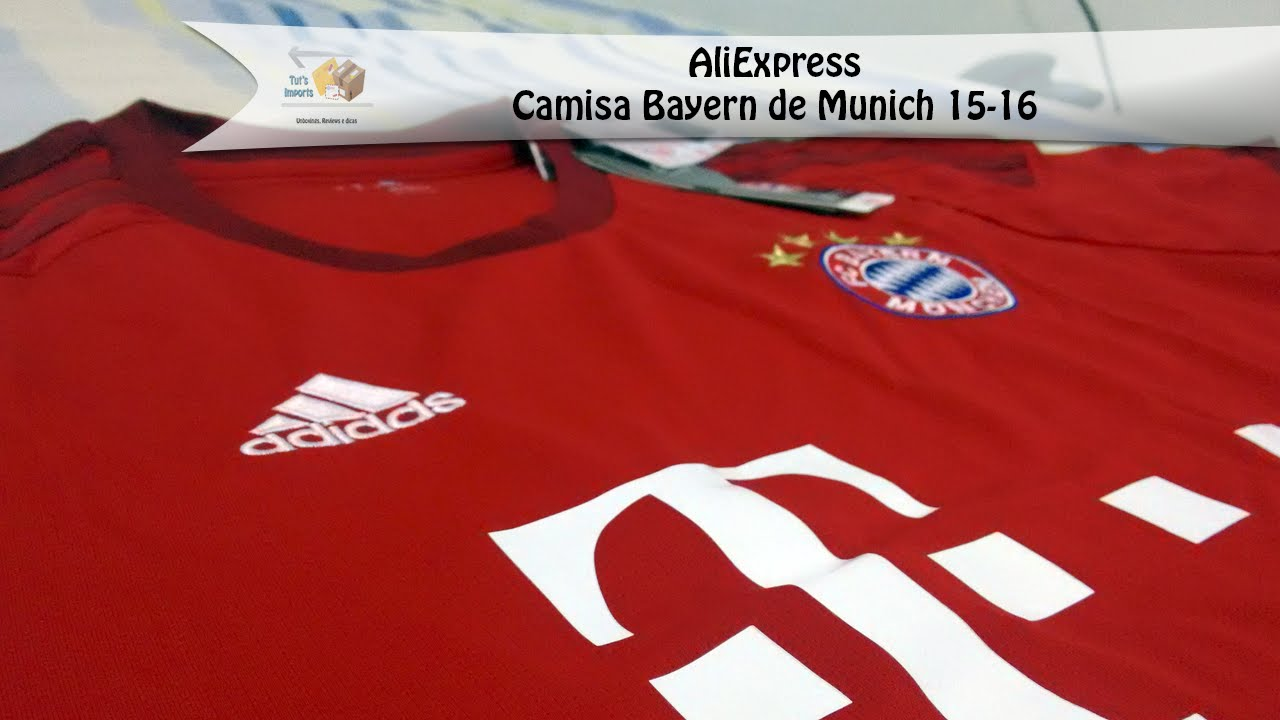 03 - Camisa Bayern 15-16 Home - Unboxing AliExpress - YouTube 30ba31e576b14