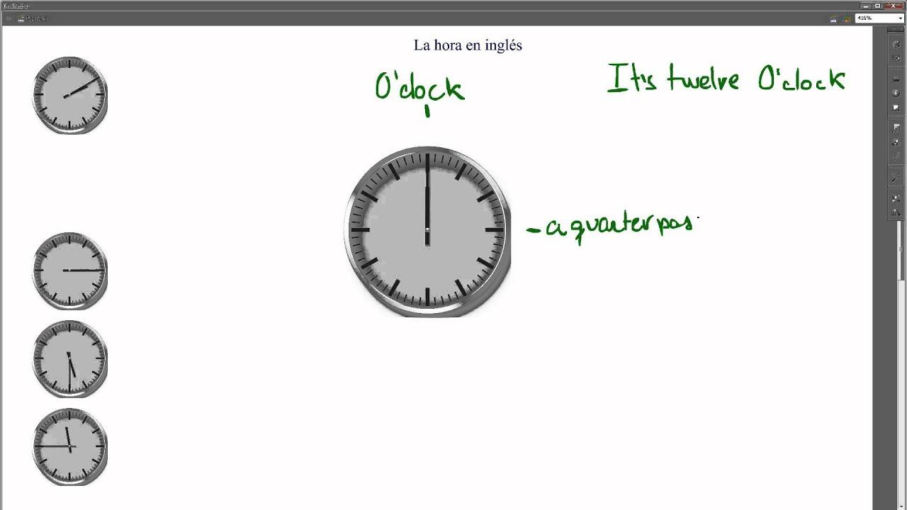 La Hora En Ingles