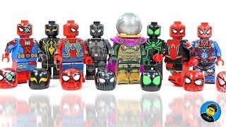 Spider-Man Far From Home Set 2 w/ Mysterio Unofficial LEGO Minifigures