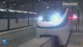China unveils first driverless monorail line