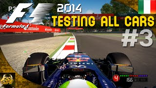 F1 2014 | Monza Hot Laps - All Cars Comparison #3