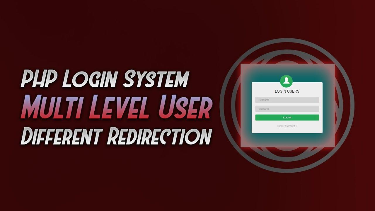 Cara Membuat Sistem Login PHP Multi Level User ...