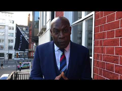 Frank Bruno at the London Sporting Club