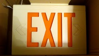 Exit Signs: Dual-Lite Liteforms LXURWE LED Exit Signs (2002)