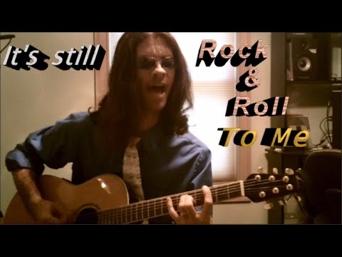 """""""It's Still Rock And Roll To Me"""" -- Billy Joel Hipster Cover (acoustic) With CC Lyrics"""