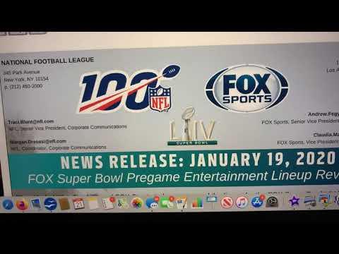 NFL FOX Super Bowl LIV Pregame Entertainment Lineup Reveled Using Canva SAAS