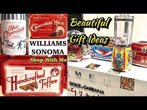Williams Sonoma SHOP WITH ME Christmas Gift Ideas TONS OF TASTY TREATS !!!