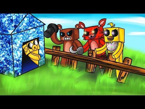 challenge-of-base-vs-animatronics-five-nights-at-freddy´s-in-minecraf-t-(fnaf)-😱🐻-will-we-survive?