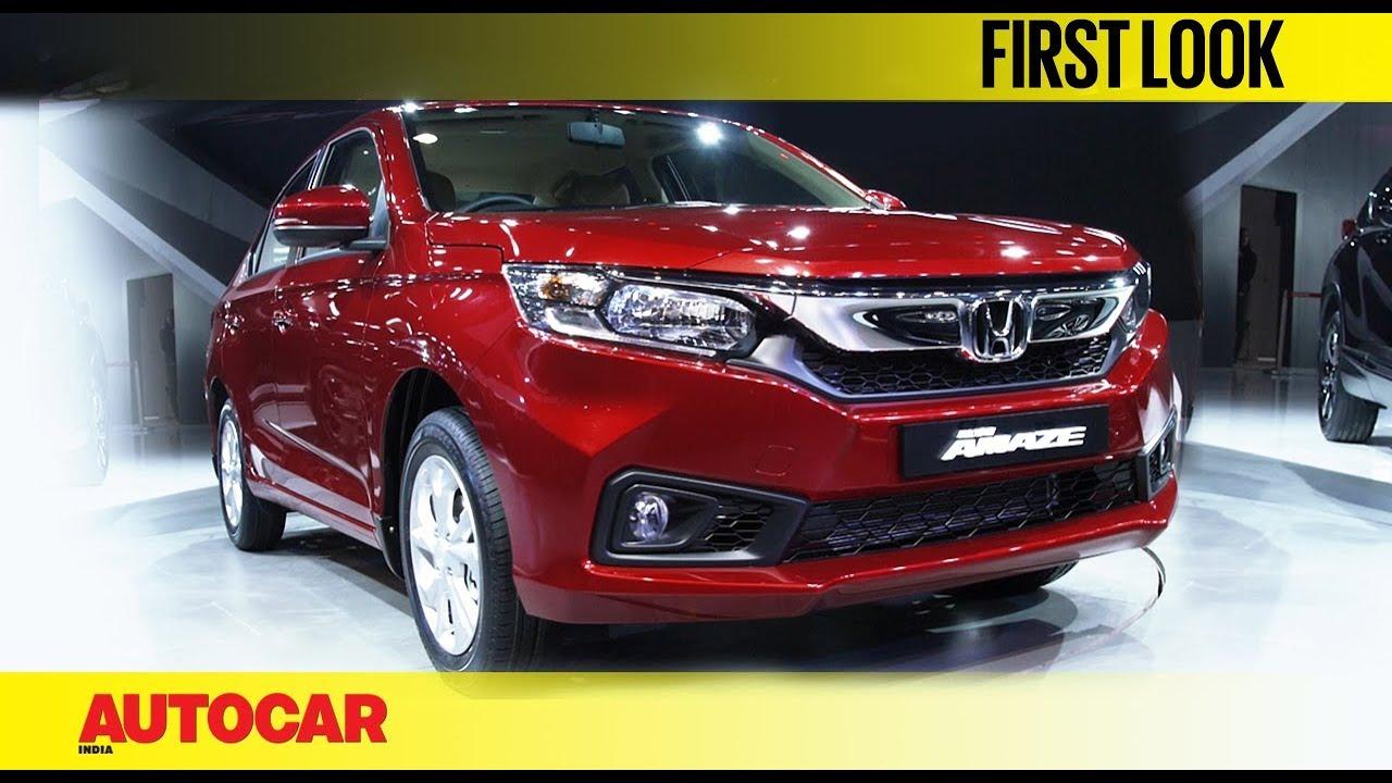 Honda Amaze Auto Expo 2018 First Look Autocar India Youtube