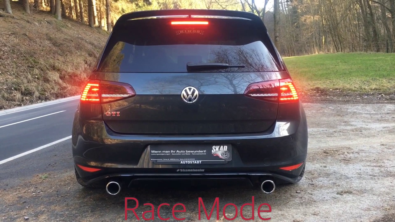 golf 7 gti clubsport with skad exhaust sx race youtube. Black Bedroom Furniture Sets. Home Design Ideas
