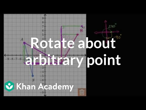 Rotating About Arbitrary Point | Transformations | Geometry | Khan Academy