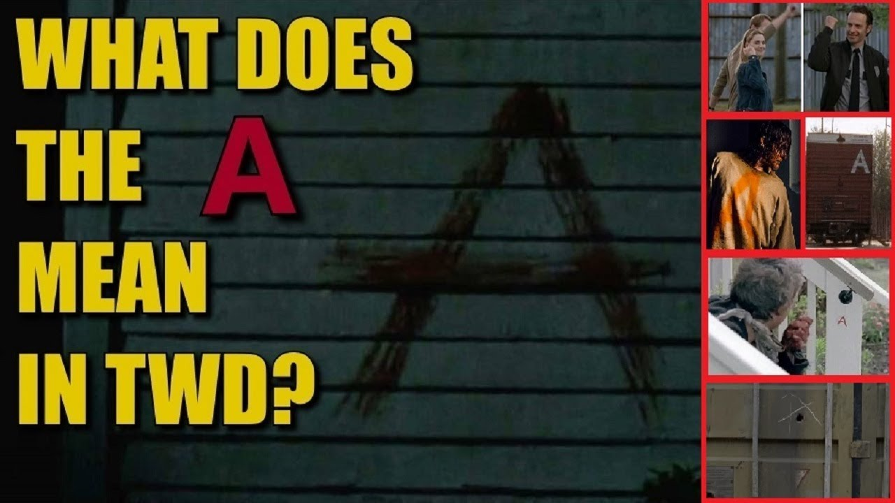 The Walking Dead Letter A Theory & Discussion   What Does The A