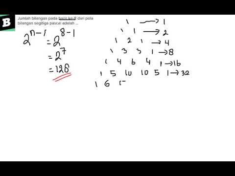 Jumlah bilangan pada baris ke-8 dari pola bilangan ...