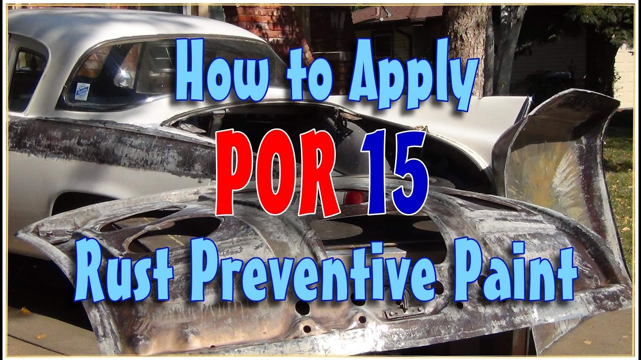 Ordinary Can You Spray Paint Over Rust Part - 11: How To Apply POR 15 To Eliminate Rust Forever! - YouTube