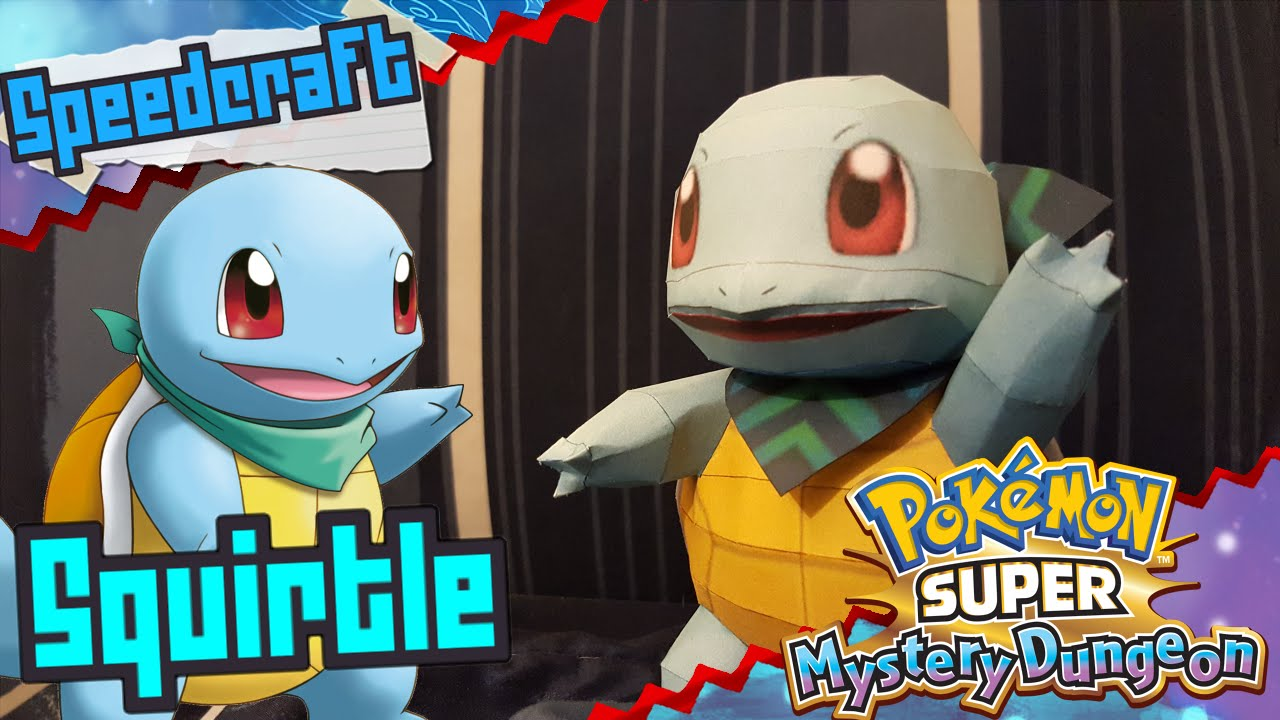 Papercraft Pokémon Super Mystery Dungeon Papercraft ~ Squirtle ~