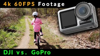 DJI Osmo Action - 4k 60 FPS Footage vs. Gopro Action Cam