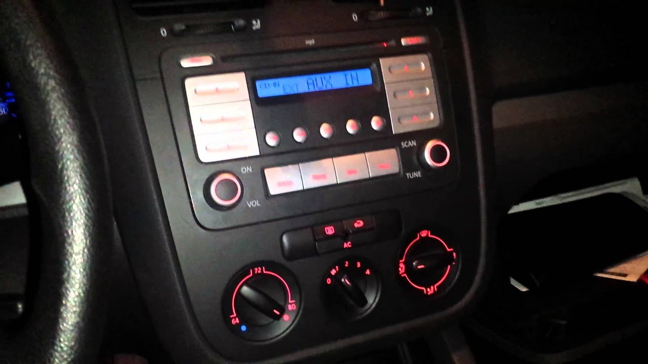 Aux port location 07 VW jetta 2 5 YouTube