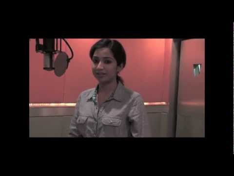 shreya ghoshal's experience on saattai song