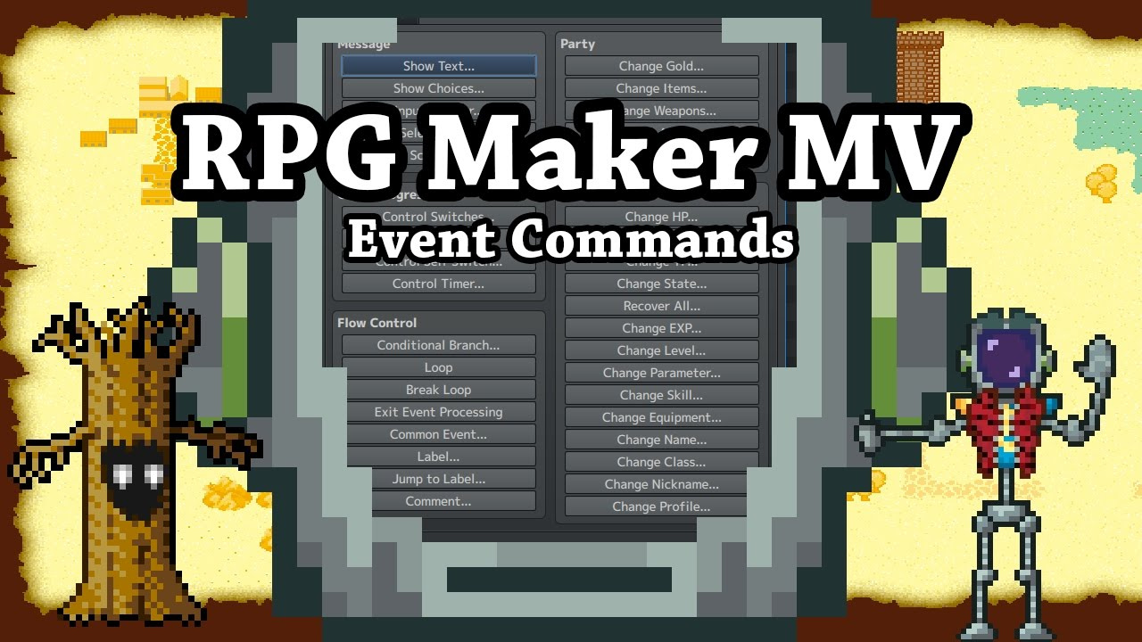 RPG Maker MV Event Commands