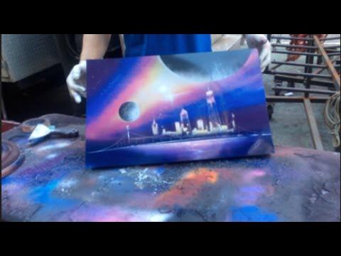 SPRAY PAINT STREET ARTIST NYC 2017