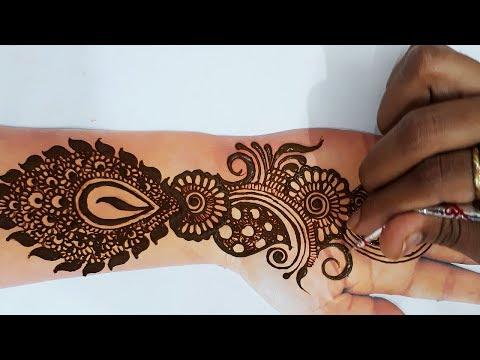 इस तीज त्यौहार बनायें  ये मेहँदी - Latest Karvachauth Special Mehndi for Full Hands