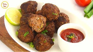 Best Fried Meatball Recipe with vegetable for kids by Tiffin Box | Classic Italian Meatballs