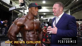 2018 Olympia: Shawn Rhoden After Prejudging Interview  With Tony Doherty.