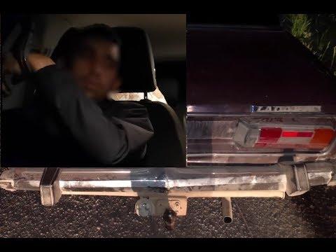 Появилось видео ночной погони с простреливанием колес под Волгоградом