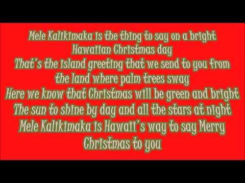 Bing Crosby Mele Kalikimaka Lyrics