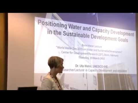 World Water Day 2015: Lecture by Uta Wehn