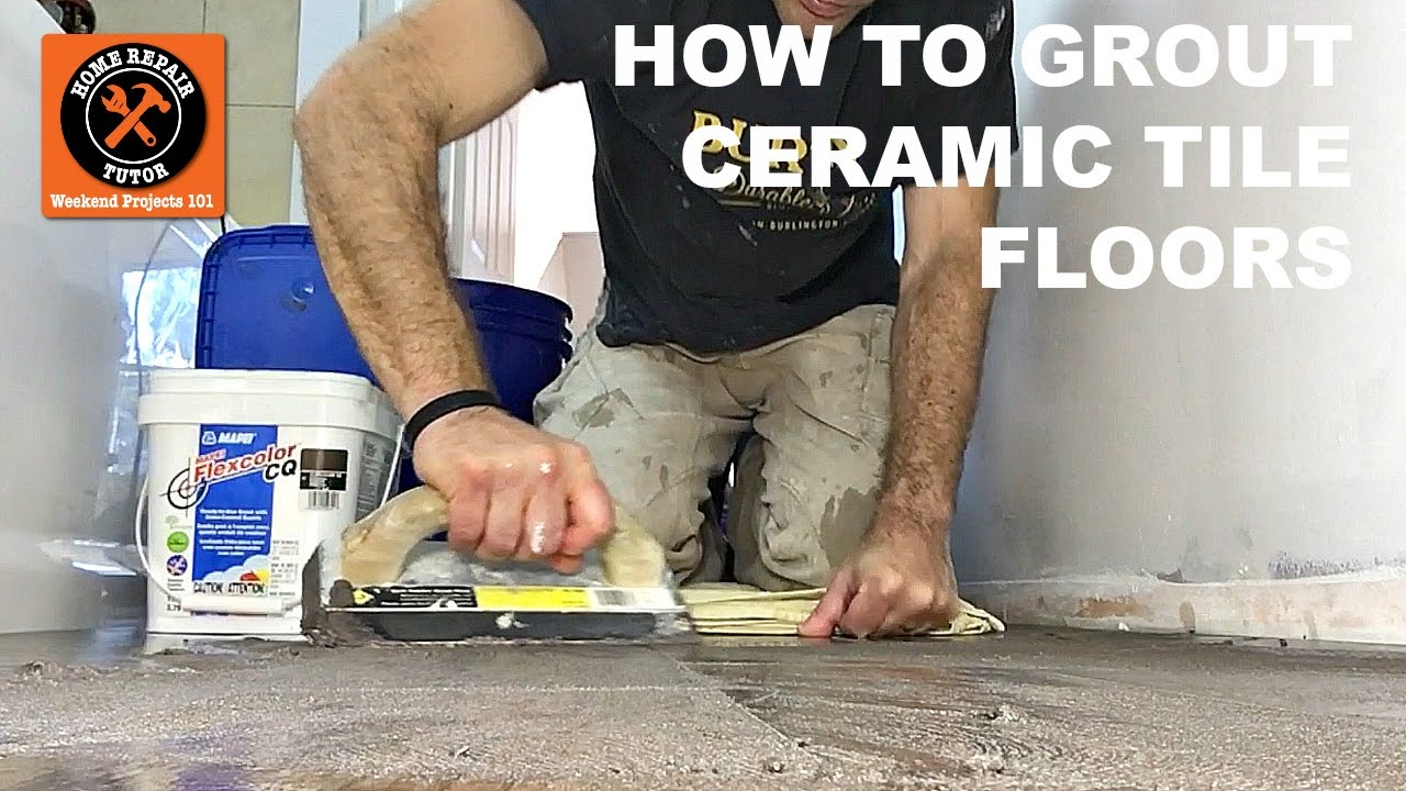 how to grout ceramic tile bathroom floors with mapei flexcolor cq stepbystep