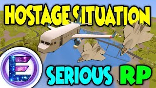 Unturned - AIRPORT HOSTAGE SITUATION!   Military jets force us to land ( Serious RP )