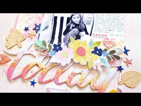 EASY MIXED MEDIA Scrapbooking *** Hip Kit Club October 2017