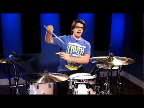 Cobus - 16th Note Groove With Off-Set Backbeat (Free Drum Lessons)