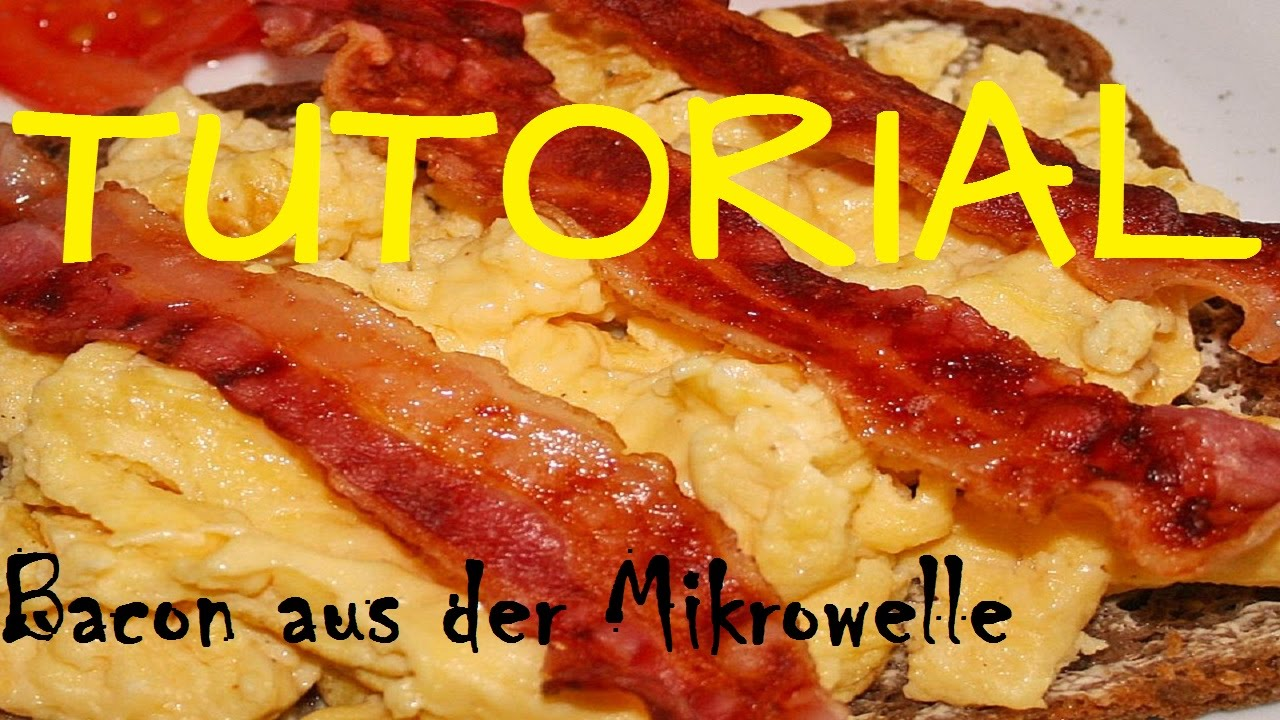 bacon in der mikrowelle