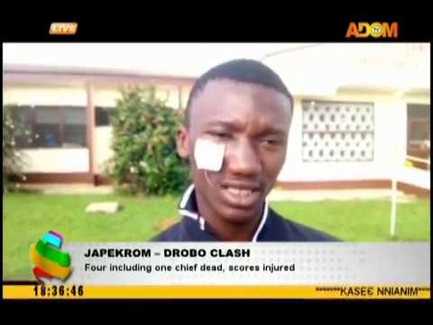 Japekrom – Drobo Clash: Four including one chief dead, score injured (18-10-18)