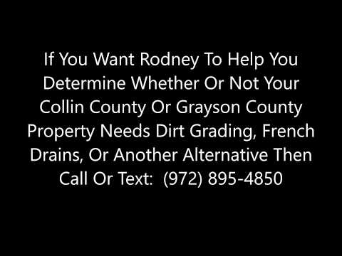 Yard Drainage And French Drains In McKinney, Sherman, Plano, And Collin And Grayson Counties - Видео онлайн